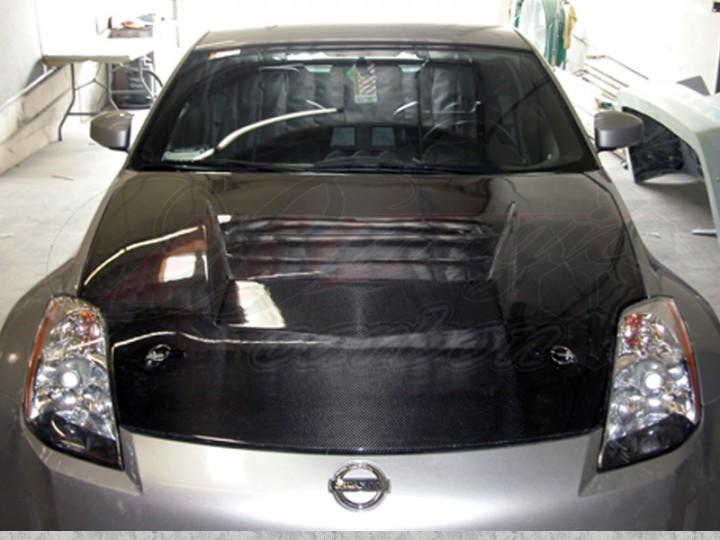 Battle Series Carbon Fiber Hood For Nissan 350z 2003 2005