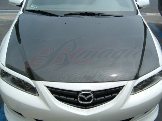 OEM Style Carbon Fiber Hood For Mazda 6 2003-2008
