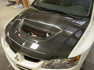 OEM Style Carbon Fiber Hood For Mitsubishi Evolution 2003-2007