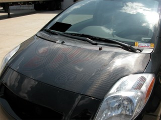 OEM Style Carbon Fiber Hood For Toyota Yaris 2007-2011 Sedan