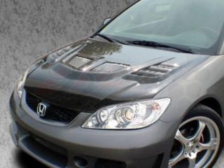 R1 Series Carbon Fiber Hood For Honda Civic 2004-2005