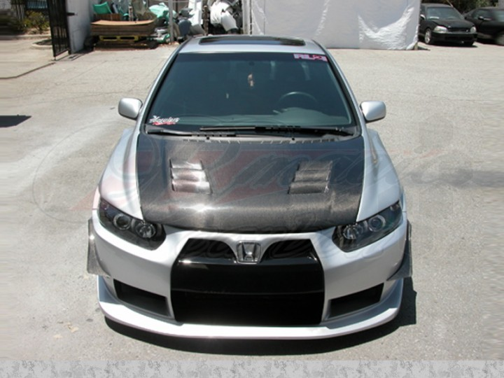 Mgn Style Carbon Fiber Hood For Honda Civic 2006 2011 Coupe