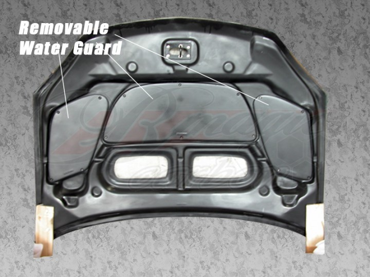 r1 series carbon fiber hood for mitsubishi mirage 1997 2001 coupe