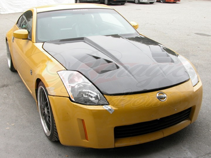 R1 Series Carbon Fiber Hood For Nissan 350z 2002 2005 Zenki