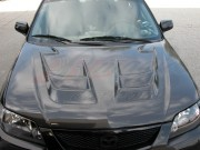 RAIDEN Series Carbon Fiber Hood For Mazda Protege 2001-2003