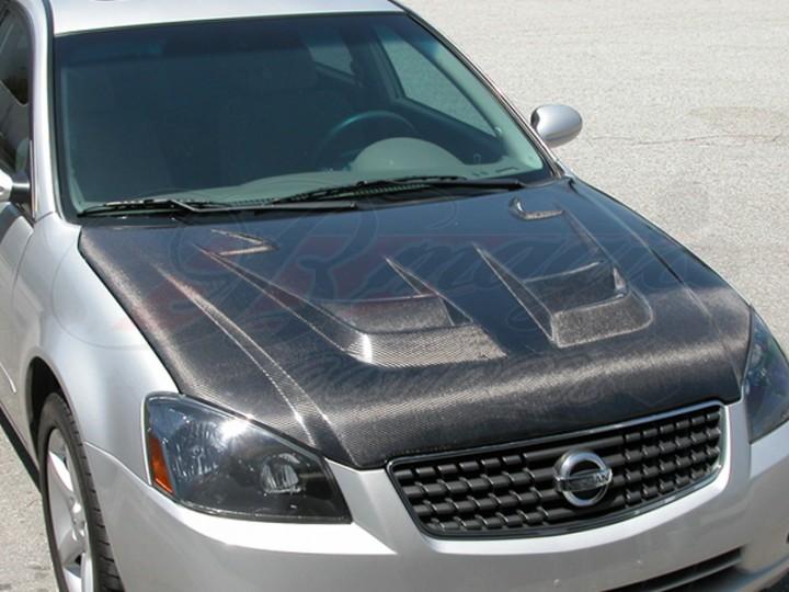 nissan altima 2005. raiden series carbon fiber hood for nissan altima 20052006 2005