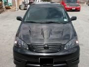 RAIDEN Series Carbon Fiber Hood For Toyota Corolla 2003-2007