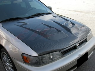 RAIDEN Series Carbon Fiber Hood For Toyota Corolla 1993-1997