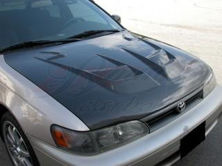 Raiden Series Carbon Fiber Hood For Toyota Corolla 1998-2000
