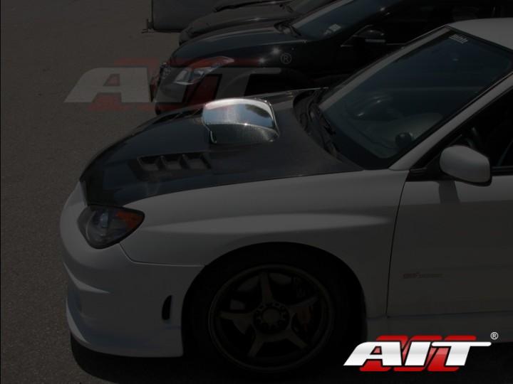 Sti Style Carbon Fiber Hood Scoop For Subaru Impreza 2006 2007