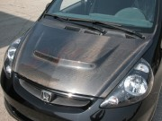 SSC Series Carbon Fiber Hood For Honda Fit 2006-2008