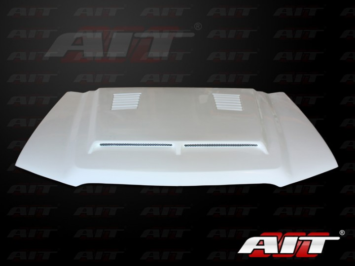 Type E Style Functional Ram Air Hood For Chevy Silverado