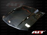 Type-4 Style Functional Cooling Cowl Hood For Ford Mustang 2005-2009(Carbon)