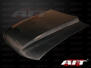 Type-4 Style Functional Cooling Hood For Ford Mustang 1994-1998(Carbon)