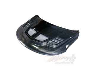 R1 Style Carbon Fiber Hood For Kia Forte 2009-2013 All Models
