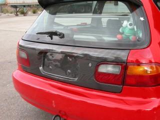 Carbon Fiber trunk door For Honda Civic 1992-1995 HB