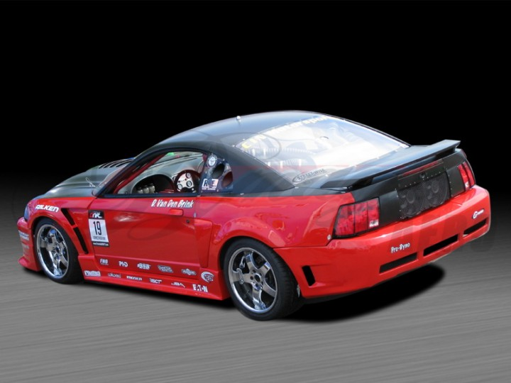 D1 Series Wide Body Kit For Ford Mustang 1999 2004