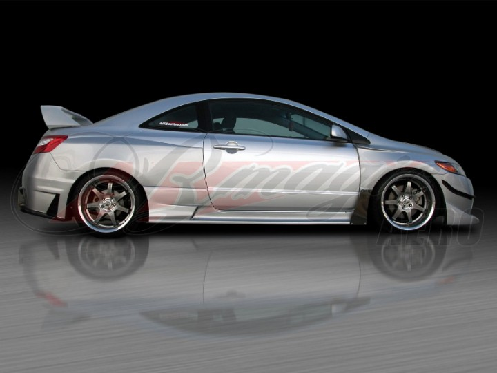 Gt I Series Wide Body Kit For Honda Civic 2006 2008 Coupe