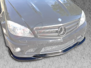 DL Style Front Carbon Fiber Lip For Mercedes W204 C-Class 2008-2011 AMG Model ONLY