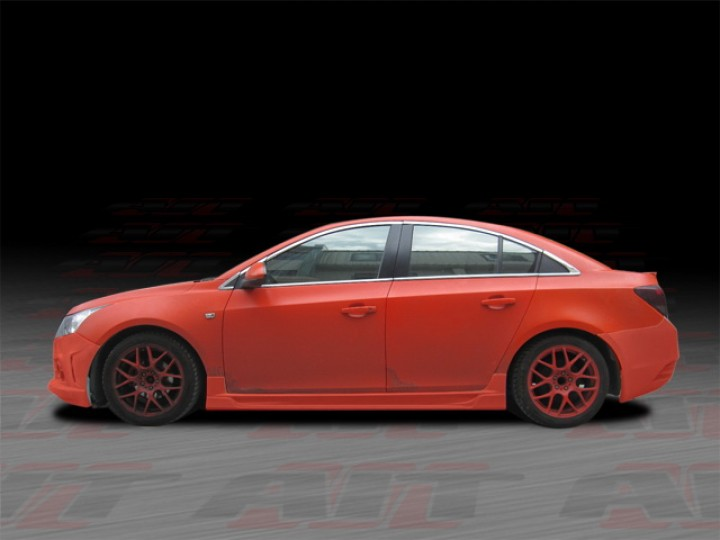 Striker Style Side Skirts For Chevrolet Cruze 2011 2014