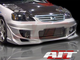 BMX Style Front Bumper Cover For Honda Civic 2001-2003