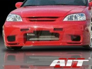 R33 Style Front Bumper Cover For Honda Civic 2001-2003