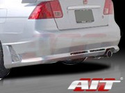 R34 Style Rear Bumper Cover For Honda Civic 2001-2005 Sedan