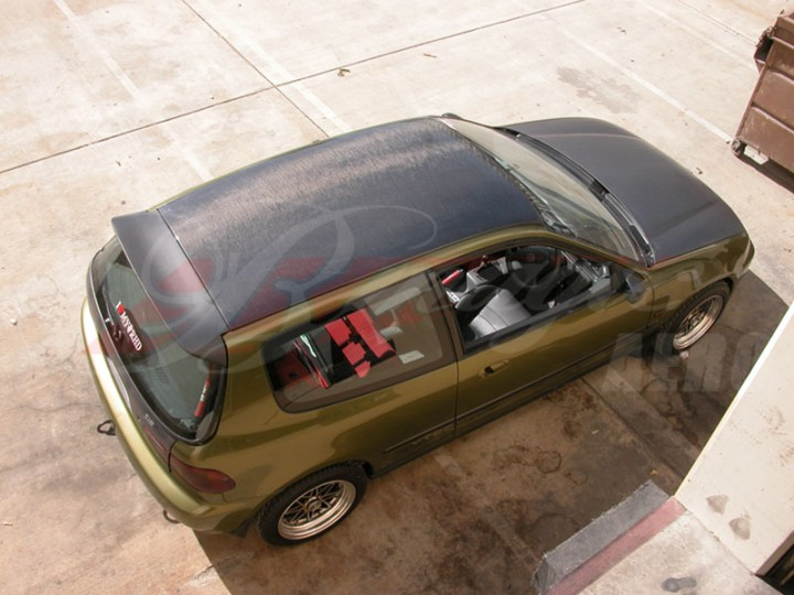 Carbon Fiber Roof Cover For 1992