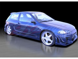 NX Series wide body kit For Honda Civic 1992-1995 HB