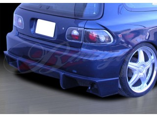 Vascious Style Rear Bumper Cover For Honda Civic 1992-1995 HB