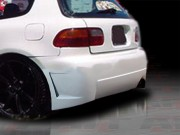 Zen Style Rear Bumper Cover For Honda Civic 1992-1995 Hatchback
