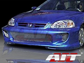 Combat Style Front Bumper Cover For Honda Civic 1996-1998