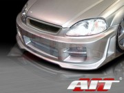 R34 Style Front Bumper Cover For Honda Civic 1999-2000