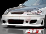 Zen Style Front Bumper Cover For Honda Civic 1999-2000