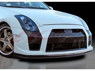 GTR Style Front Bumper with Fiberglass lip For 2003-2007 Infiniti G35 Coupe