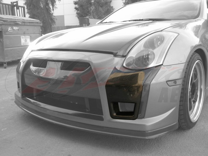 Carbon Add Onsides For Gtr Style Front Bumper Cover For 2003 2007