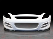 ZTS Style Front Bumper with carbon fiber lip For 2008-2013 Infiniti G37 Coupe