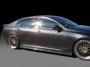 Swish Series Carbon Fiber Side Skirts For Lexus GS 2006-2012