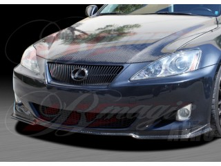 DL Series Carbon Fiber Front Underbody Spoiler For Lexus IS 2006-2008