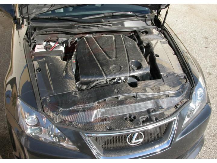 Carbon Fiber Engine Dust Cover For Lexus Is250 2006 2013