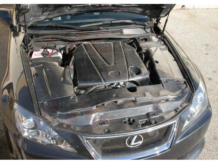 Carbon Fiber Engine Dust Cover For Lexus Is350 2006 2013
