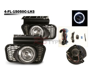 Factory Fog Lamp Replacement with Daytime Running Halo Ring - Chevrolet Avalnche 2004-2006