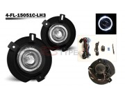 Factory Fog Lamp Replacement with Daytime Running Halo Ring - Ford Explorer 2002-2005