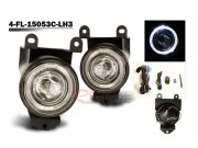 Factory Fog Lamp Replacement with Daytime Running Halo Ring - GMC Denali 2001-2006