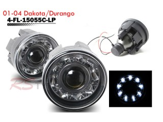 Factory Fog Lamp Replacement with Daytime Running LEDs - Dodge Dakota 2001-2004