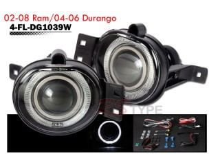 Factory Fog Lamp Replacement with Daytime Running Halo Ring - Dodge RAM 2002-2008