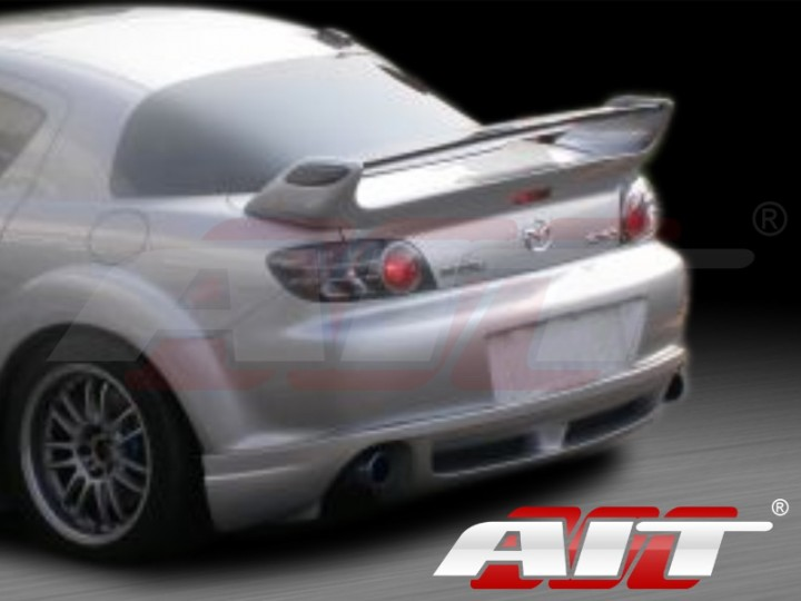 rm style rear spoiler for mazda rx-8 2003-2008