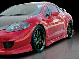 BLACKOUT-2 Side Skirts For Mitsubishi Eclipse 2006-2012