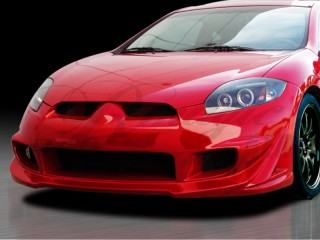 BLACKOUT-3 Front Bumper Cover For Mitsubishi Eclipse 2006-2012