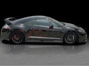 BLACKOUT-1 Side Skirts For Mitsubishi Eclipse 2006-2012